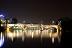 Bridges in Turin Italy. One of the bridges over the river Po in Turin Italy Royalty Free Stock Image
