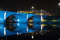 Bridge over River Po in Turin Stock Image