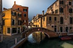 bridges venice italy royaltyfri foto