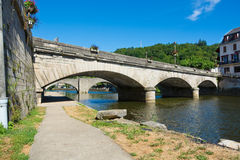 Bridges in Villefranche-de-Rouergue Stock Images
