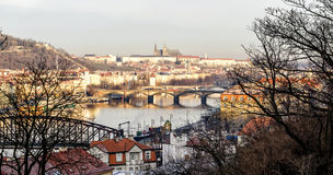 Bridges on the Vltava. River in Prague Stock Images