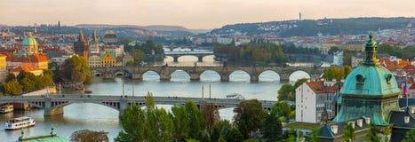 Bridges of the Vltava River, Prague Royalty Free Stock Images