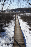 Bridges. Winter  landscape  new  england  forest  snow  bridges Stock Photography