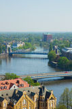 Bridges of Wroclaw, Poland. Bridges  across the Oder river, Wroclaw, Poland Royalty Free Stock Images
