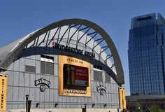 Bridgestone Arena Home of the Predators, Nashville, Tennessee. Bridgestone Arena Home of the Predators, The Nashville Predators are a professional ice hockey royalty free stock image