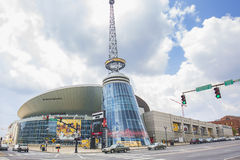 Bridgestone-Arena in Nashville Stockfotos