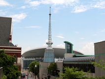 The Bridgestone Arena, Nashville Tennessee. Bridgestone Arena (originally Nashville Arena and formerly Gaylord Entertainment Center and Sommet Center) is an all Stock Image