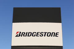Bridgestone logo on a panel. Aarhus, Denmark - December 13, 2015: Bridgestone is a multinational auto and truck parts manufacturer founded in 1931 and also one Royalty Free Stock Photography