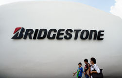 Bridgestone Pavilion, BOI Fair 2011 Thailand Stock Photo