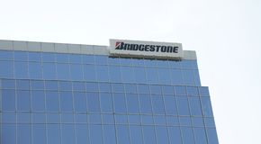 Bridgestone Tire and Rubber Company Building. The Bridgestone Group delivers a wide range of tires to customers around the world, such as tires for passenger Stock Photos