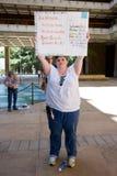 Bridget Bindung unterstützt den Wisconsin-Arbeitskraftanschluß Lizenzfreie Stockbilder