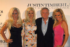 Bridget Marquardt,Holly Madison,Hugh Hefner,Kendra Wilkinson,Hollies,Justin Timberlake Stock Images