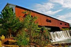 Bridgeton-überdachte Brücke stockfoto