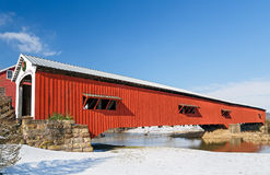 Bridgeton Covered Bridge at Christmas Royalty Free Stock Photo