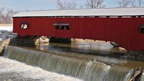 Bridgeton Covered Bridge Loop Stock Photography
