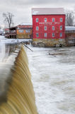 Bridgeton Mill. The old mill and dam stand in the Indiana town of Bridgeton Stock Photography