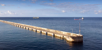 Bridgetown, Μπαρμπάντος - αποβάθρα κρουαζιέρας Στοκ φωτογραφία με δικαίωμα ελεύθερης χρήσης
