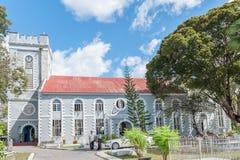 BRIDGETOWN, BARBADOS - 10 DE MARZO DE 2014: Iglesia en Bridgetown, Barbados Isla del mar del Caribe Fotos de archivo libres de regalías