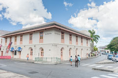 BRIDGETOWN, BARBADOS - 10 DE MARZO DE 2014: Viejo ayuntamiento Barbados Isla del mar del Caribe Fotografía de archivo