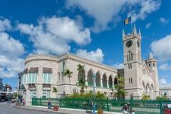 BRIDGETOWN BARBADOS - MARS 10, 2014: Barbados parlament En av den äldsta parlamentet i världen Ö för karibiskt hav Arkivbild