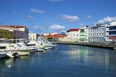 Bridgetown Barbados som är karibiska Arkivfoto