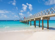 Bridgetown, Barbados - Tropical island - Caribbean sea - Brownes beach - Carlisle bay. Antilles stock images