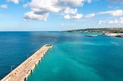 Bridgetown, Barbados - Tropical island - Caribbean sea - Cruise harbor and pier. View of Bridgetown, Barbados - Tropical island - Caribbean sea - Cruise harbor royalty free stock photography