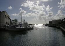 Bridgetown's Yacht Harbour. The yacht harbour in Bridgetown's downtown, Barbados royalty free stock photography