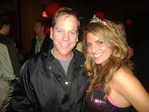 Bridgetta Tomarchio,KEIFER SUTHERLAND. Keifer Sutherland and Bridgetta Tomarchio at Bridgetta Tomarchio B-Day Bash and Babes in Toyland Toy Drive, Lucky Strike royalty free stock images