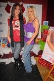 Bridgetta Tomarchio, Nikki Benz. Jayden Jaymes and Nikki Benz at Bridgetta Tomarchio B-Day Bash and Babes in Toyland Toy Drive, Lucky Strike, Hollywood, CA. 12 royalty free stock image