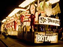 Bridgewater karnevalflöte Royaltyfri Fotografi