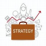 bridgework Begrepp för plan för affärsstrategi med symbolsuppsättningen Projektstart royaltyfri illustrationer