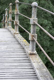 Bridging. A really very old bridge,wood and steel construction stock images