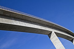 Bridging. Detail of a valley traversing concrete bridge Royalty Free Stock Photography