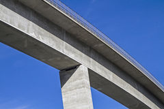 Bridging. Detail of a valley traversing concrete bridge Stock Photography