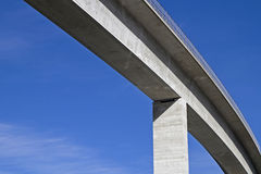 Bridging. Detail of a valley traversing concrete bridge Royalty Free Stock Image