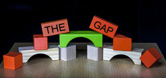 Bridging the Gap - business, education, PR, politics -. Bridging the Gap - business, education, meeting, PR, politics - compromise, heal or diplomacy Stock Photos