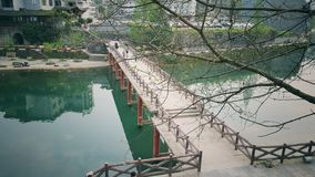 Fenghuang bridge. Bridging new and old Royalty Free Stock Image