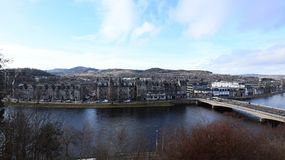 River Ness view from Inverness. Bridging the River Ness, as seen from the castle Royalty Free Stock Image