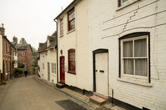 Bridgnorth, Shropshire. Old fashioned vintage housing in Bridgnorth, England Stock Photography