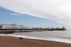 Bridgton pier, England. Brighton pier United Kingdom in silent spring evening Royalty Free Stock Photography