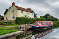 The Bridgwater & Taunton Canal. At Bankland in Somerset stock photos