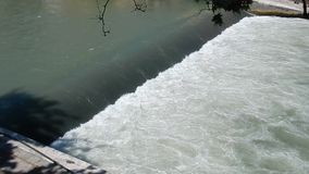 Bridle of the Tiber river stock video footage