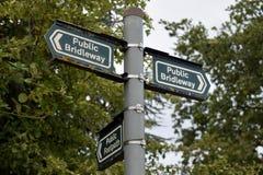 bridleway σημάδι Στοκ φωτογραφία με δικαίωμα ελεύθερης χρήσης