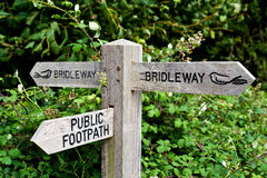 Bridleway And Public Footpath Stock Photo