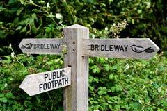 Bridleway en openbaar voetpad Stock Foto