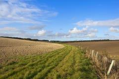 Bridleway land Stock Foto's