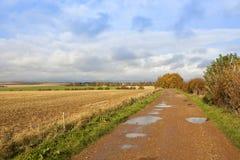 Bridleway land royaltyfri fotografi