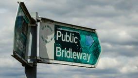 Bridleway público, ciudad de Sheffield Imágenes de archivo libres de regalías