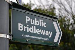 Bridleway Pfad-Zeichen Lizenzfreie Stockfotografie